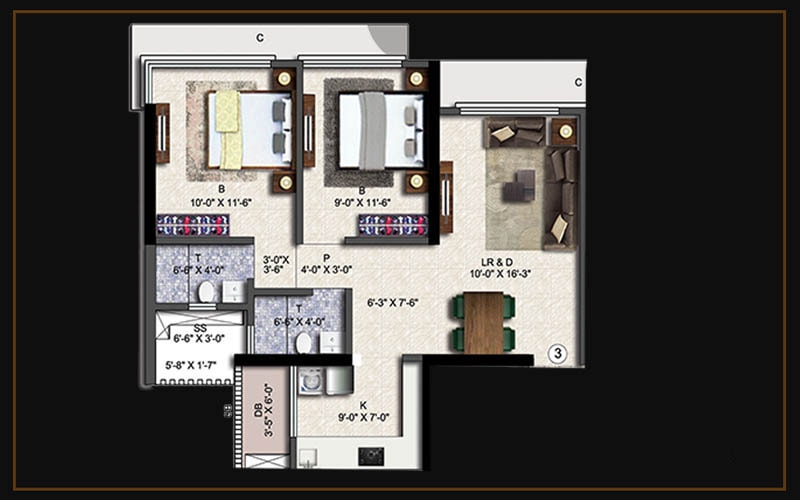 2bhk(a3)